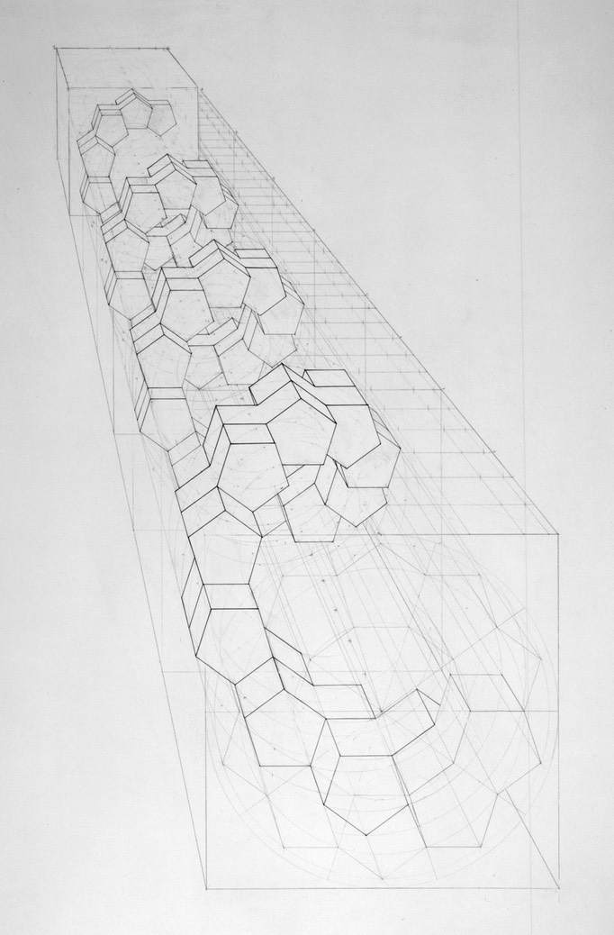 pentagonal helix drawing long